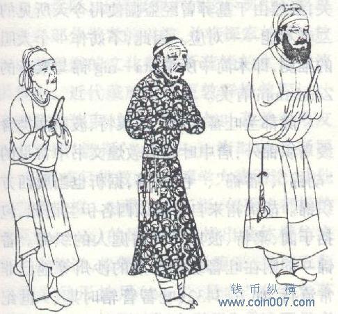 唐朝服饰花样手绘图